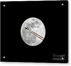 Lunar Photobomb Acrylic Print