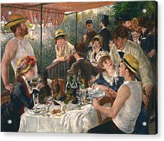 Luncheon Of The Boating Party, 1880-1881 Acrylic Print