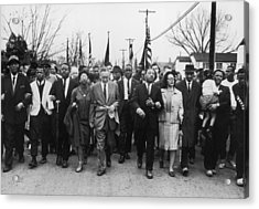 Luther King Marches Acrylic Print