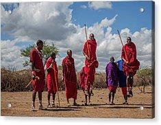 Maasai Adumu Acrylic Print