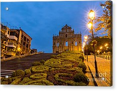 Macau Ruins Of St. Pauls. Built From Acrylic Print