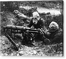 Machine Gunners Acrylic Print by General Photographic Agency