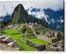 Machu Picchu In Peru. Unesco World Acrylic Print