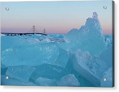 Mackinac Bridge In Ice 2161805 Acrylic Print