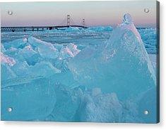 Mackinac Bridge In Ice 2161806 Acrylic Print