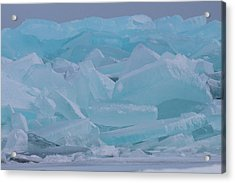Mackinaw City Ice Formations 21618010 Acrylic Print