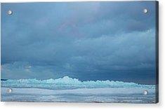 Mackinaw City Ice Formations 21618012 Acrylic Print