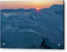 Mackinaw City Ice Formations 21618013 Acrylic Print