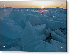 Mackinaw City Ice Formations 21618014 Acrylic Print