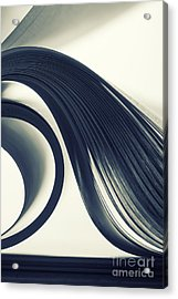 Macro View Of Abstract Paper Curves Acrylic Print