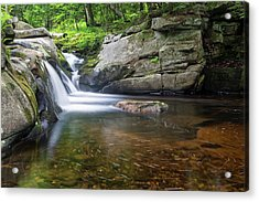 Acrylic Print featuring the photograph Mad River Falls by Nathan Bush
