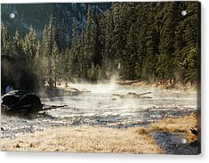 Acrylic Print featuring the photograph Madison River Morning by Pete Federico