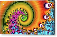 Magic Hook Orange Art Acrylic Print
