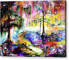 Magic Of The Wetland Okefenokee Georgia Acrylic Print by Ginette Callaway