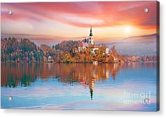 Magical Autumn Landscape With The Acrylic Print