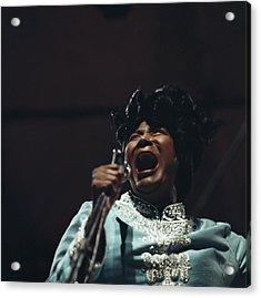 Mahalia Jackson In Concert Acrylic Print by David Redfern