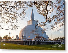 Mahatupa Big Dagoba In Anuradhapura At Acrylic Print
