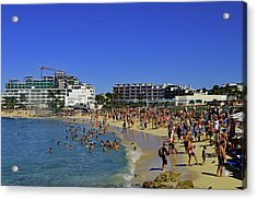 Acrylic Print featuring the photograph Maho Beach by Tony Murtagh
