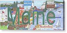 Maine Acrylic Print