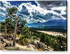 Acrylic Print featuring the photograph Majestic Clouds by James L Bartlett