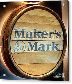 Makers Mark Barrel Acrylic Print