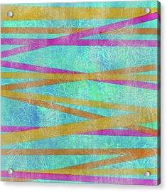 Malaysian Tropical Batik Strip Print Acrylic Print