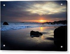 Acrylic Print featuring the photograph Malibu Sunset by John Rodrigues