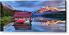 Maligne Lake Sunset Spectacular Acrylic Print