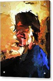 Man In The Cobalt Blue Shirt Acrylic Print
