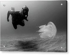 Man Underwater Acrylic Print