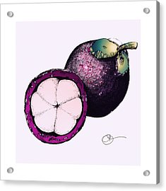 Acrylic Print featuring the mixed media Mangosteen by Lucas Boyd