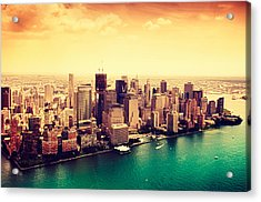 Manhattan And Ground Zero From Acrylic Print