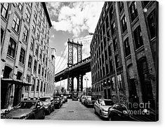 Manhattan Bridge Seen From A Brick Acrylic Print by Youproduction