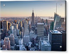 Manhattan Skyline Acrylic Print by Chris Hepburn