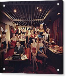 Mans Work Acrylic Print by Slim Aarons