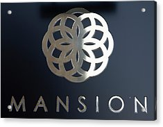 Colours. Mansion Black Acrylic Print