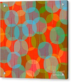 Many Coloured Balls In Pattern On Black Acrylic Print