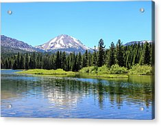 Manzanita Lake Reflection 1 Acrylic Print