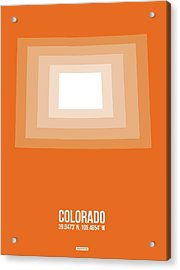 Map Of Colorado Acrylic Print