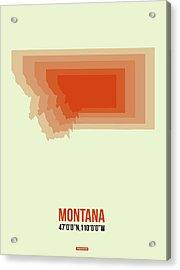Map Of Montana Acrylic Print