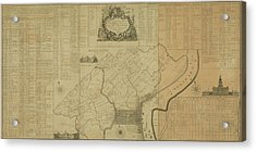 Map Of Philadelphia, Pennsylvania 1774 Acrylic Print