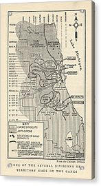 Map Showing Divisions Of Gang Acrylic Print