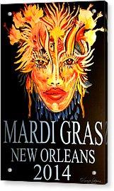 Mardi Gras Lady Acrylic Print