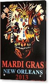 Mardi Gras Spirit 2013 Acrylic Print