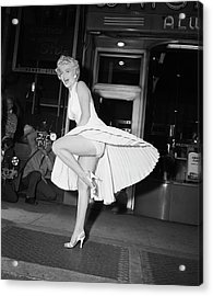 Marilyn Monroe On Subway Grate Acrylic Print by Bettmann