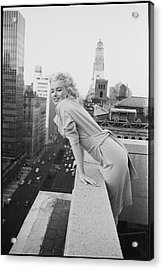 Marilyn On The Roof Acrylic Print by Michael Ochs Archives