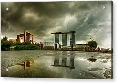 Acrylic Print featuring the photograph Marina Bay Sands Hotel by Chris Cousins