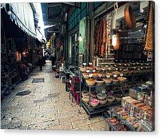 Market In Old City Of Jerusalem Acrylic Print