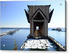 Marquette Ore Dock Cathedral Acrylic Print