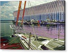 Marquette Ore Dock Lower Harbor. Acrylic Print